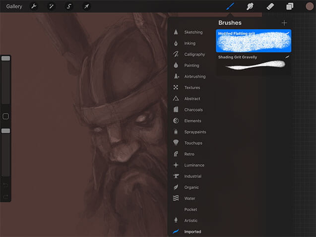 ProCreate How to Import a new brush