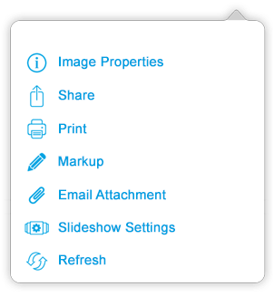 Image Viewer Actions Menu