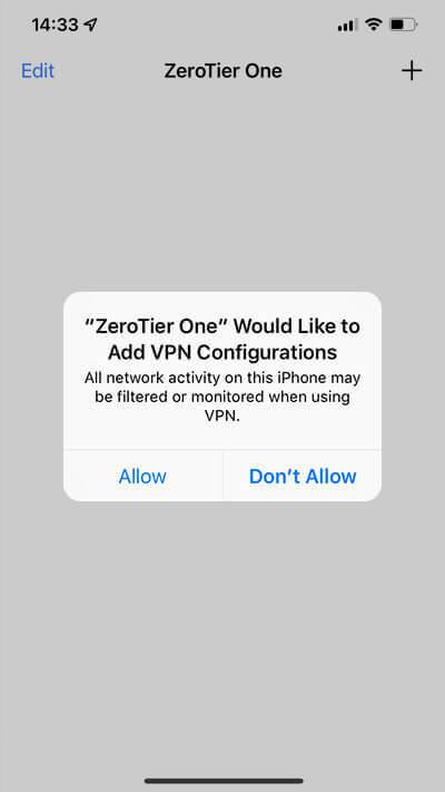 How to Setup the ZeroTier VPN app on iPhone/iPad