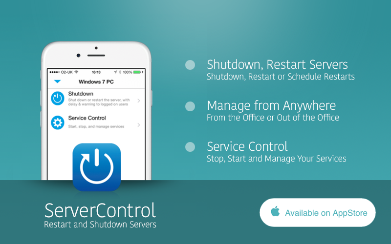 Reboot or shutdown your Windows computers from your iPhone
