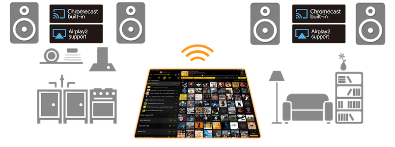 Stream large music libraries from your computer to your iPad
