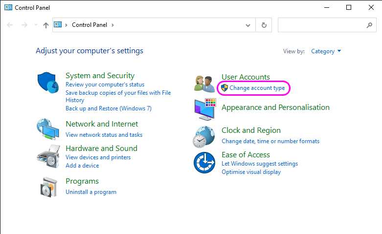 How to check your Windows 10 user accounts