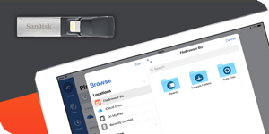 Edit Word documents on a USB FLash Drive on your iPad.