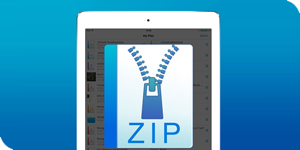 Expand zip files on your iPad.