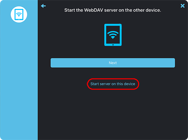 Setup a WebDAV server on your iPad or iPhone