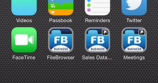 Home Screen Links now available in FileBrowser Professional